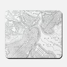 Vintage Map of Boston (1878) Mousepad