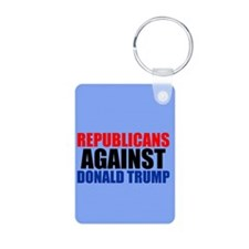 Anti Trump Republican Aluminum Photo Keychain