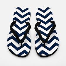 Blue, Navy: Chevron Pattern Flip Flops