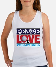 Peace Love and Volleyball Tank Top