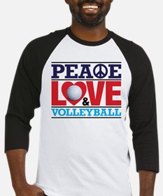 Peace Love and Volleyball Baseball Jersey
