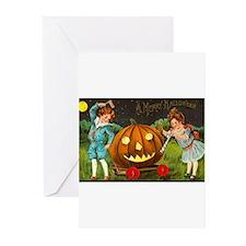 Victorian Halloween Children Greeting Cards (Pk of