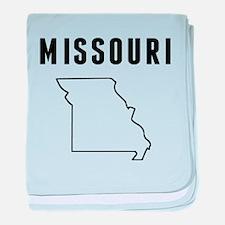 Missouri baby blanket