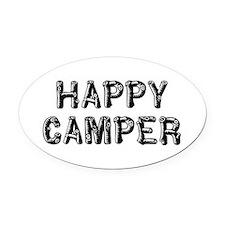 Happy Camper Oval Car Magnet