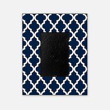 blue navy quatrefoil moroccan patt picture frame