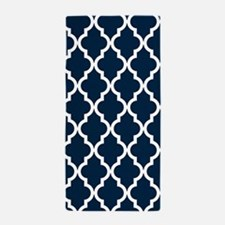 Navy Blue Moroccan Pattern Beach Towel