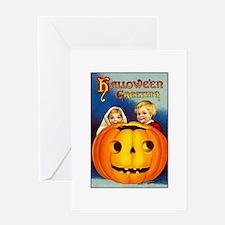 Victorian Halloween Children Greeting Card