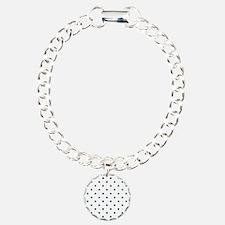 White & Navy Blue Polka Bracelet
