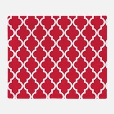 Red Moroccan Pattern Throw Blanket