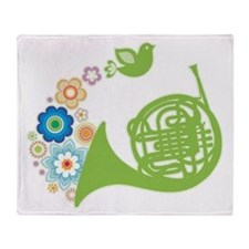 French Horn Gift Idea Throw Blanket