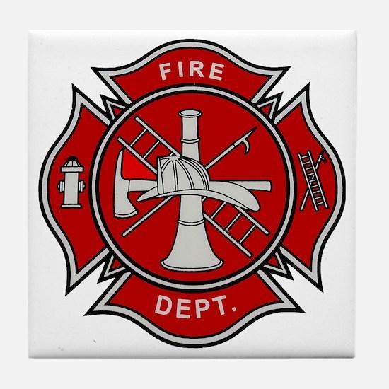 Fire Dept. Tile Coaster