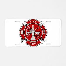 Fire Dept. Aluminum License Plate