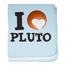 I Love Pluto baby blanket