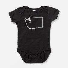 Washington Outline Baby Bodysuit