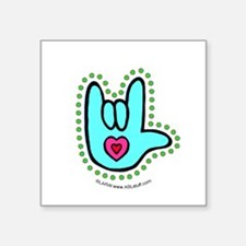 "Unique Deaf culture Square Sticker 3"" x 3"""