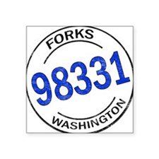 "Unique Forks Square Sticker 3"" x 3"""