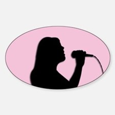 Female Singer Pink Decal