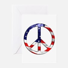 murica peace sign Greeting Cards
