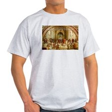 Raphael School of Athens: Ash Grey T-Shirt