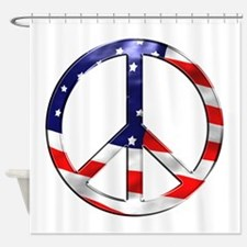 murica peace sign Shower Curtain