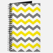 Yellow and Gray Chevron Pattern Journal