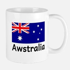 Awstralia Blue Mugs