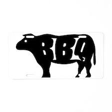 BBQ Aluminum License Plate