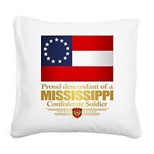 Mississippi Proud Descendant Square Canvas Pillow