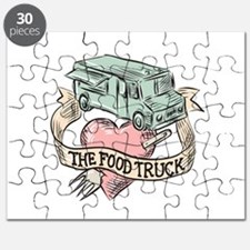 Food Truck Heart Fork Etching Puzzle