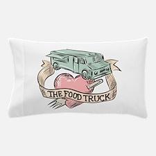 Food Truck Heart Fork Etching Pillow Case