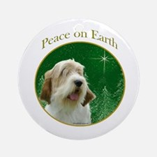 PBGV Peace Ornament (Round)