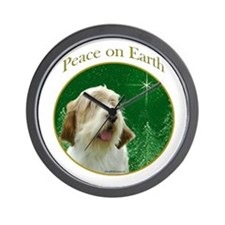 PBGV Peace Wall Clock