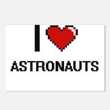 I Love Astronauts Digitia Postcards (Package of 8)