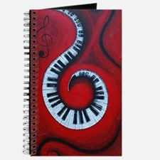 Swirling Piano Keys-Music In Motion Journal