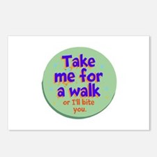 Take me for a Walk Postcards (Package of 8)