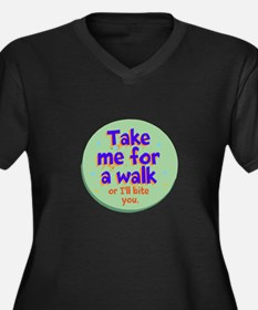 Take me for a Walk Plus Size T-Shirt
