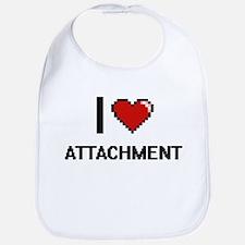 I Love Attachment Digitial Design Bib