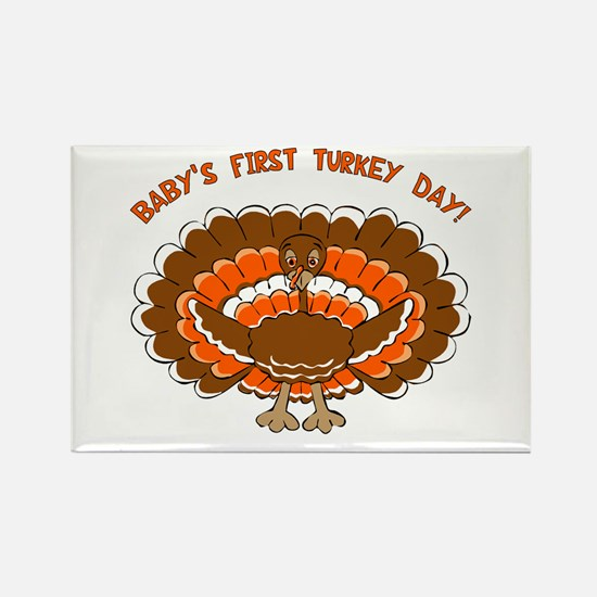 Baby's First Turkey Day Rectangle Magnet