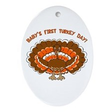 Baby's First Turkey Day Oval Ornament