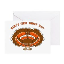 Baby's First Turkey Day Greeting Card