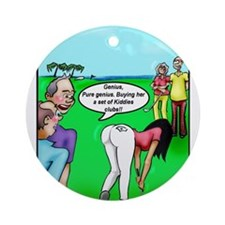 Golf. Pure Genius. by Dave Ell Ornament (Round)