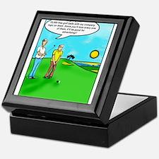 Golf Balls Dave Ell Keepsake Box