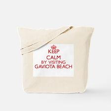 Keep calm by visiting Gaviota Beach Calif Tote Bag