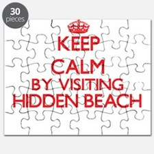 Keep calm by visiting Hidden Beach Californ Puzzle