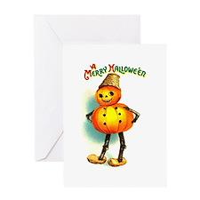 Pumpkin Man Greeting Card
