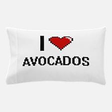 I Love Avocados Digitial Design Pillow Case