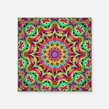 "Rainbow Energy Mandala Square Sticker 3"" x 3"""