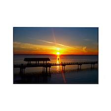 Bellingham Bay Sunset Rectangle Magnet