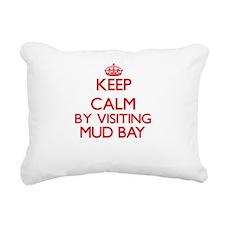 Keep calm by visiting Mu Rectangular Canvas Pillow