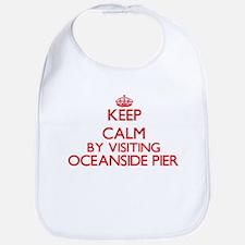Keep calm by visiting Oceanside Pier Californi Bib